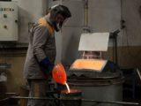 Coulée Bronze manuelle sur coquilleuse fixe